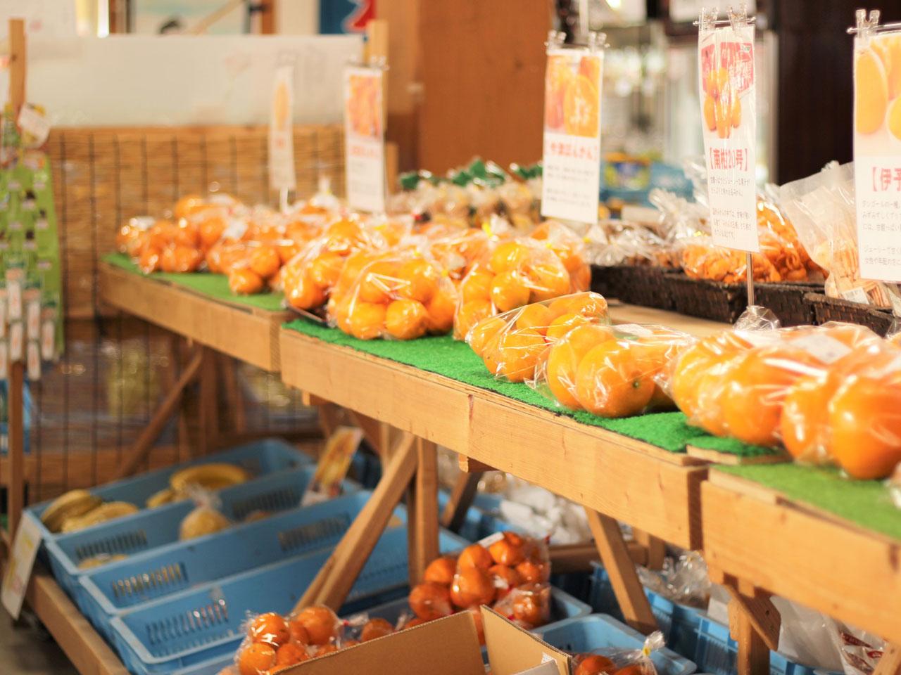 地元の野菜や果物の写真