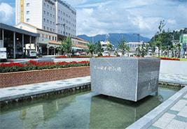 大和田建樹(おおわだたけき)の詩碑の写真