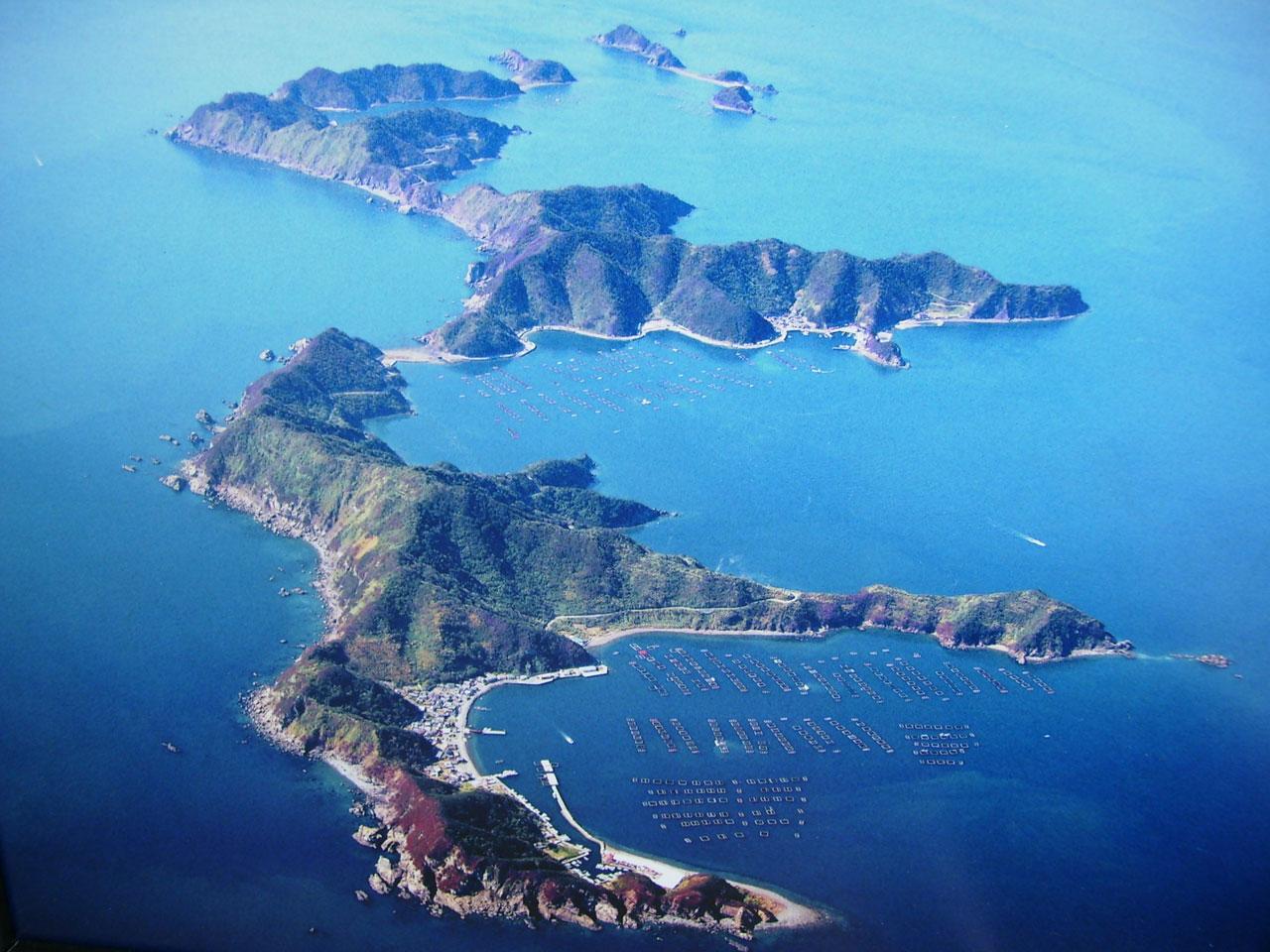 空から見た日振島の写真