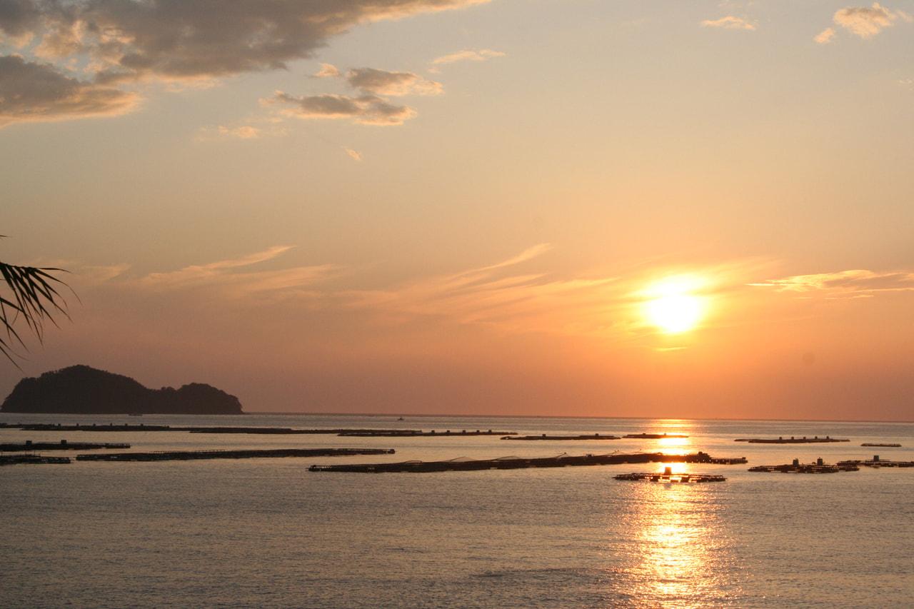 九島の夕日の写真